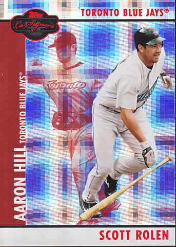 Hyper Plaid Red #49b Scott Rolen / Aaron Hill SN100
