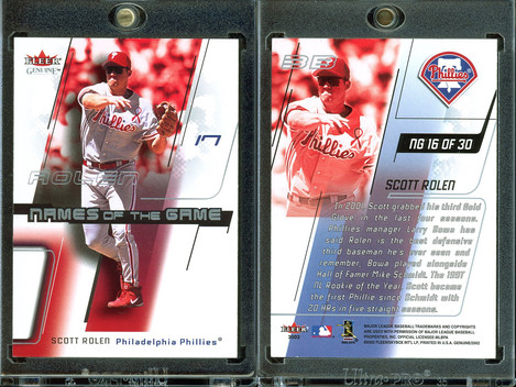 2002 Fleer Genuine - Names of the Game #NG16