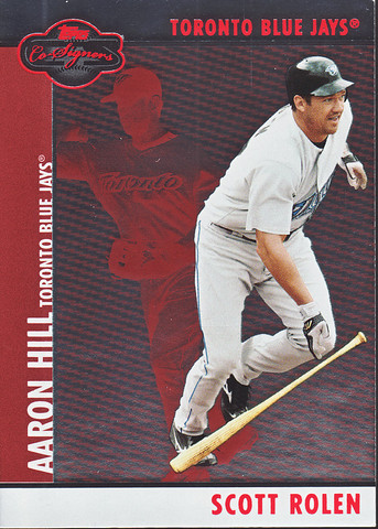 Silver Red #49b Scott Rolen / Aaron Hill SN400