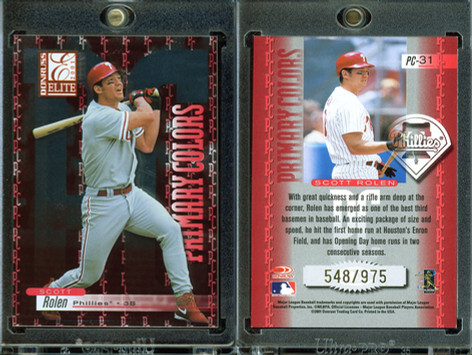 2001 Donruss Elite - Primary Colors Red #PC-31 SN975