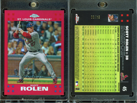 2007 Topps Chrome - Red Refractors #45 SN99