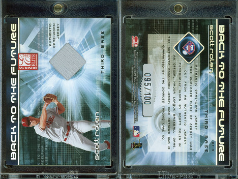 2002 Donruss Elite - Back to the Future Threads #9 MEM, SN100