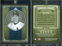 2005 Donruss Diamond Kings - Framed Green Black and White #210 SN50