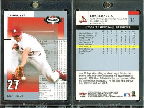 2003 Fleer Box Score #73