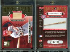 2001 Donruss Elite - Back 2 Back Jacks Autograph #BB-14 AU, MEM, SN100