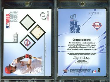 2001 Fleer Legacy - MLB Game Issue Base-Ball #12 MEM, SN100