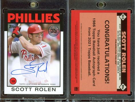 2021 Topps - 1986 Topps Baseball 35th Anniversary Autographs #86A-SR AU