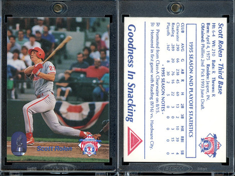 1995 Reading Phillies Eastern League Champs Team Issue #SCRO