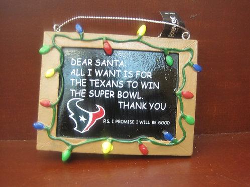 Texan Fan note to Santa