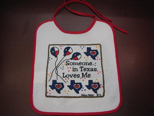 Someone in Texas Love Me Bib