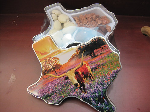 Pecans in a Texas shaped box