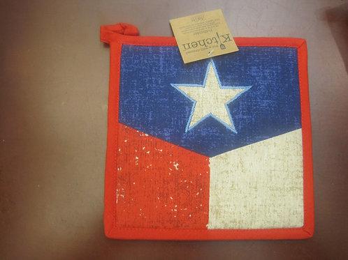 Rustic Texas Flag Pot Holder