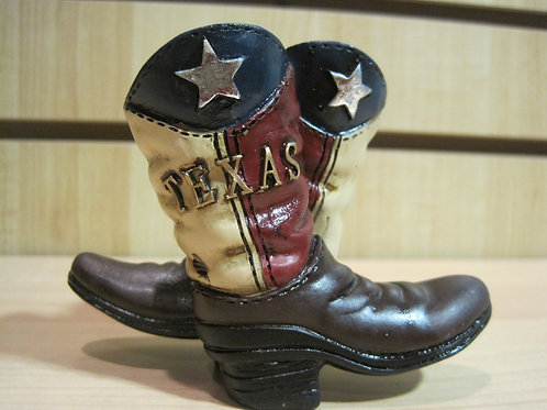 Two Texas Joint Boots in TX colors