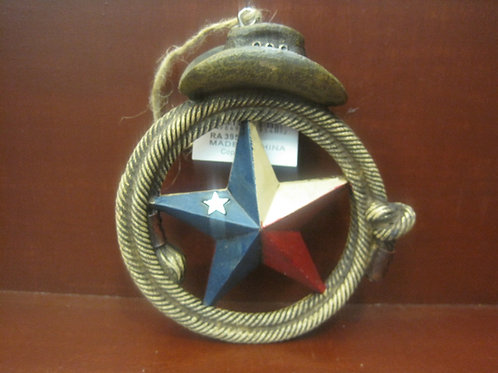 Texas Star with a Hat on Top - Ornament