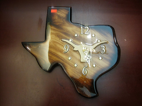 Texas Shaped Clock - Handcrafted