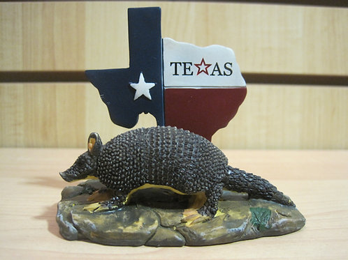 Armadillo with Texas Sign