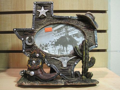 Texas shaped photo frame