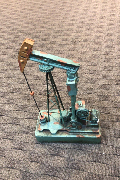 Oil rig - light blue and gold