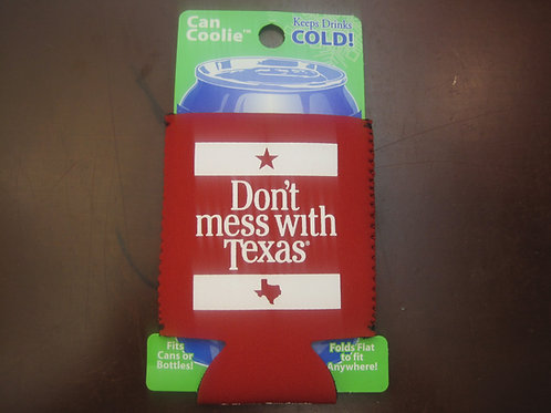 Don't Mess with Texas - Red Can Coozie