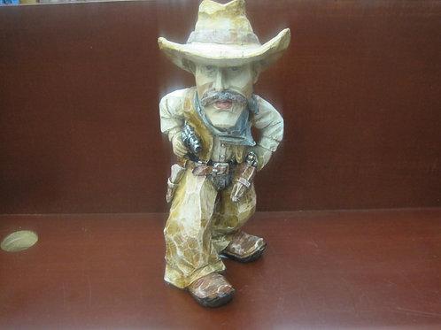 Full Texas Cowboy Figurine Drawing a Gun