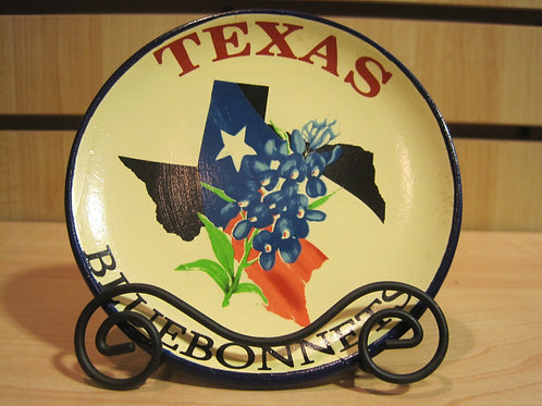 Round Texas Plate with Official TX Emblems