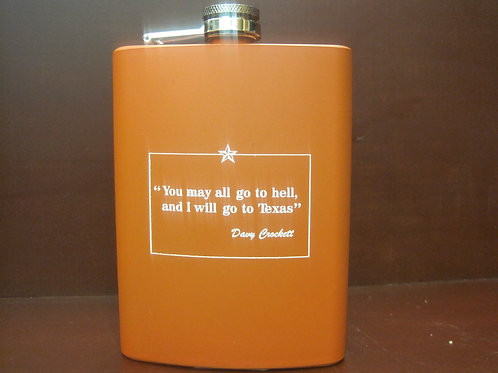 You may all go to hell - Texas metal flask 6 0.z