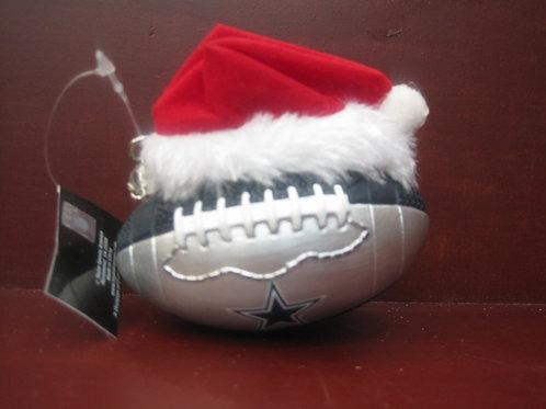 Cowboy Football with Santa Hat