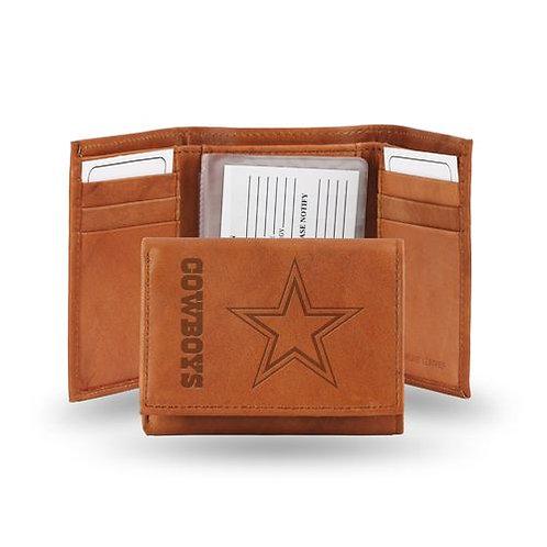 Dallas Cowboys Brown Tri fold wallet