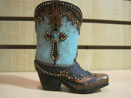 Texas Boot with Cross Stationery Holder