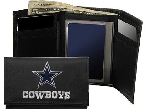 Dallas Cowboys Leather Tri fold wallet