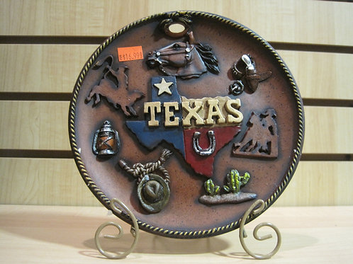Texas Plate with all major attractions