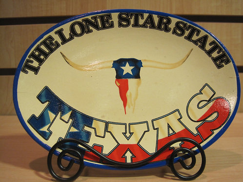 Lone Star State Oval Shaped Plate