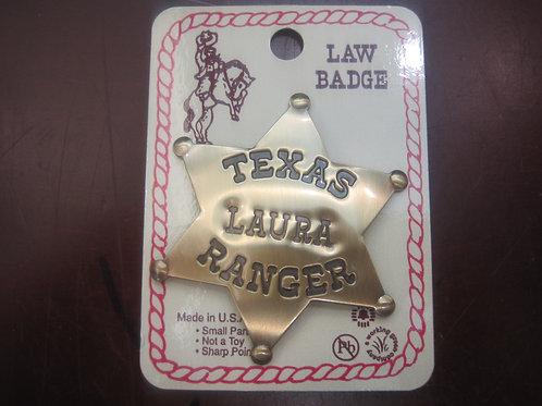 """Texas """"Laura"""" Ranger Sheriff Badge"""