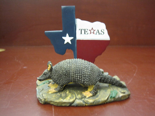 Texas Map with Armadillo