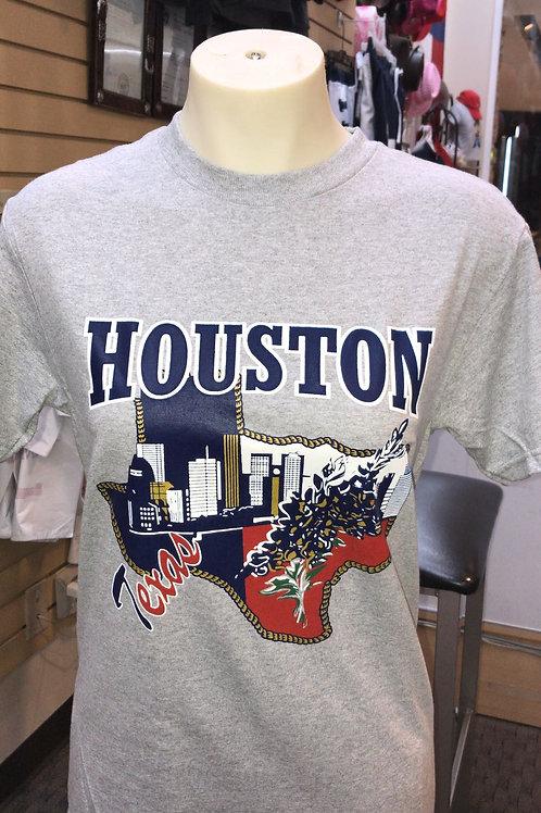 Houston Texas Tshirt in a map