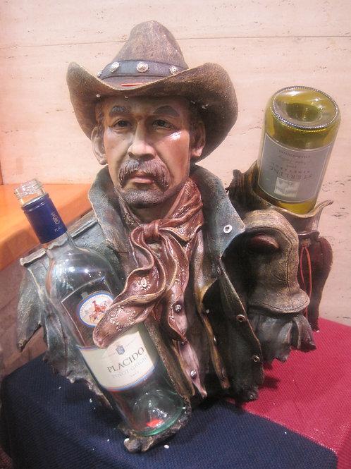 Full Face Masterpiece: Cowboy Wine Bottle Holder
