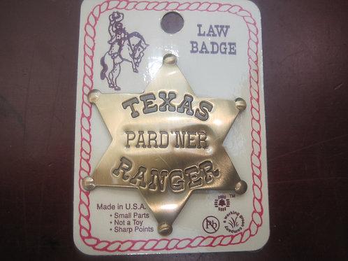 Texas Pard'ner Ranger Sheriff Badge