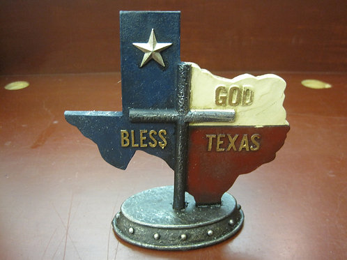 God Bless Texas with cross and Texas Star