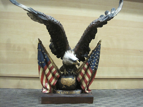 Symbolic American Eagle with Two U.S Flags