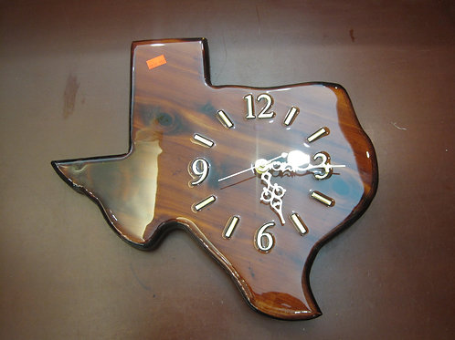 Texas Shaped Clock