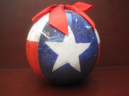 Round Texas Flag Color Ornament