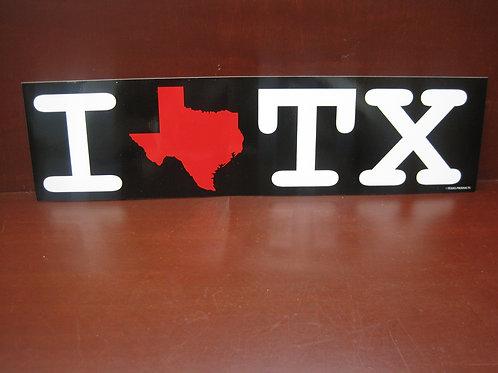 """Read as """"I  Love Texas"""""""