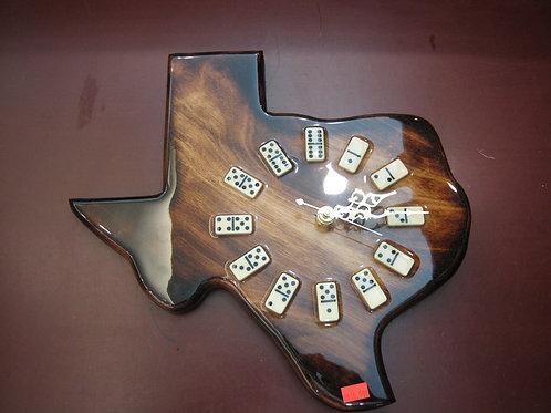 Texas Shaped Dominos Clock