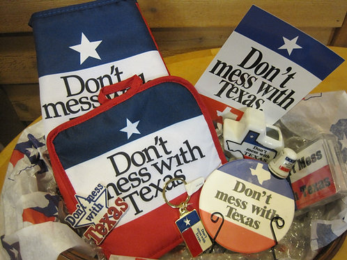 Don't Mess with Texas themed gift basket