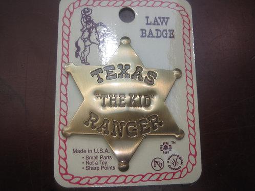 """Texas """"The Kid"""" Ranger Sheriff Badge"""