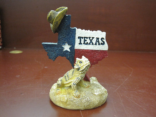 Texas Map with Frog