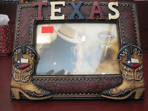 Texas boots photo frame