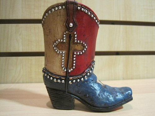 Texas color boot Stationery Holder