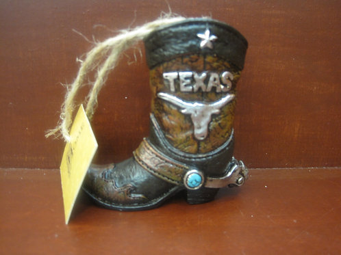 Texas Longhorn Boot Ornament