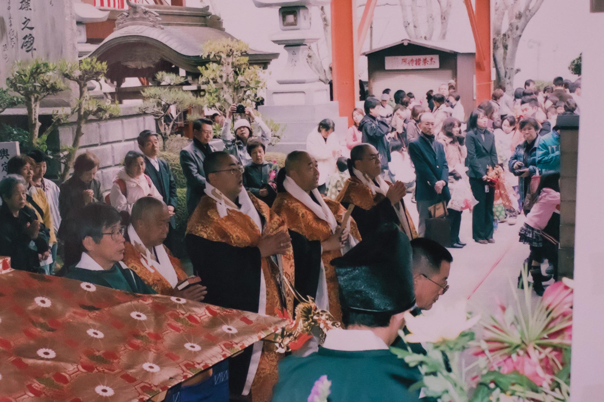 開創百年祭行道と稚児行列